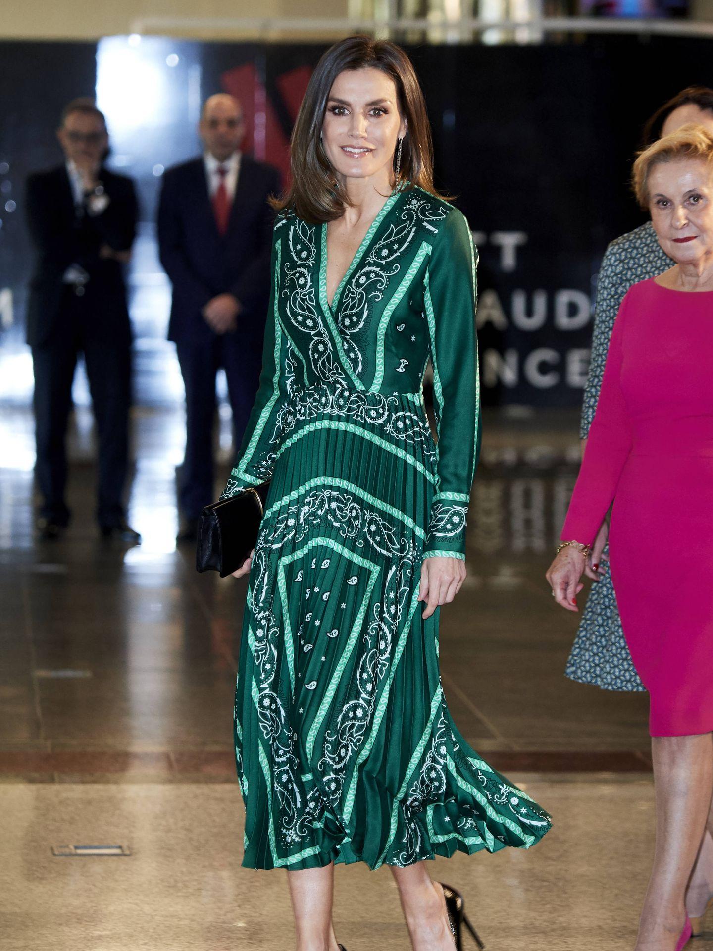 La reina Letizia, en la clausura del Congreso Internacional de AFAMMER. (Getty)