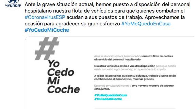 Este es el mensaje de Hyundai para poner en marcha el #YoCedoMiCoche,