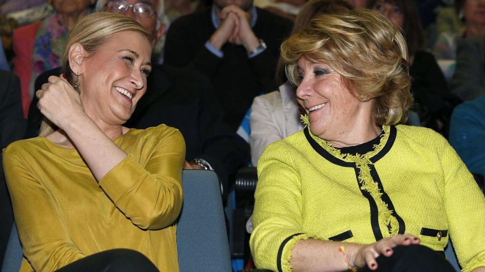 Escrache de los antidesahucios a Aguirre y Cifuentes en Madrid