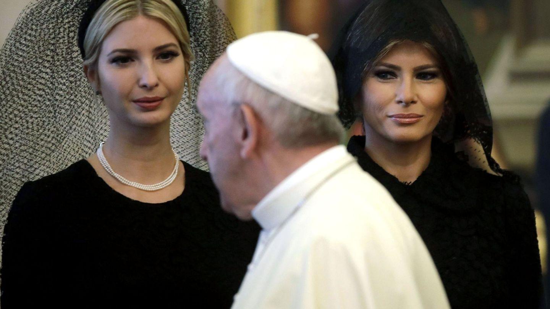 Melania, Ivanka y el Papa. (EFE)