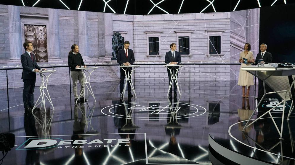 Foto: Imagen del debate de Antena 3 y La Sexta. (Atresmedia)