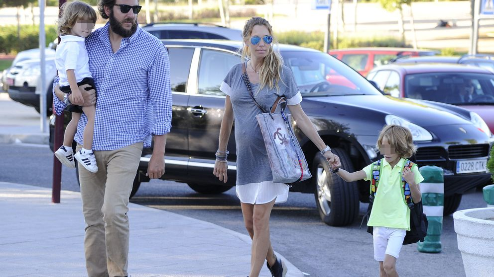Los famosos acompañan a sus hijos a su primer día de colegio