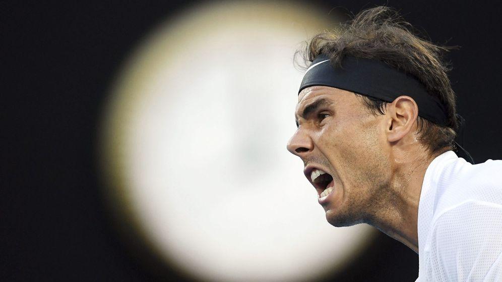 Foto: Nadal, durante la semifinal contra Dimitrov. (EFE)