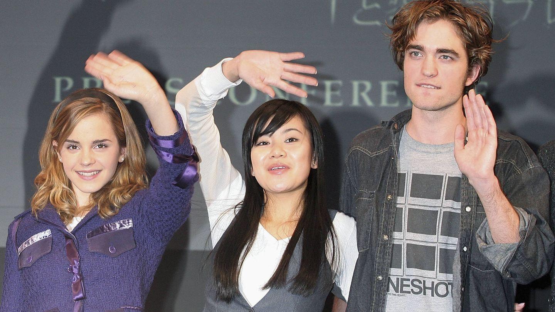 El actor, junto a Emma Watson y Katie Leung. (Getty)