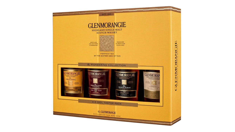 Foto: En formato de cuatro botellas de 10cl, la excelente edición regalo de este año incluye Glenmorangie The Original y las tres expresiones que forman la gama Extra Matured.