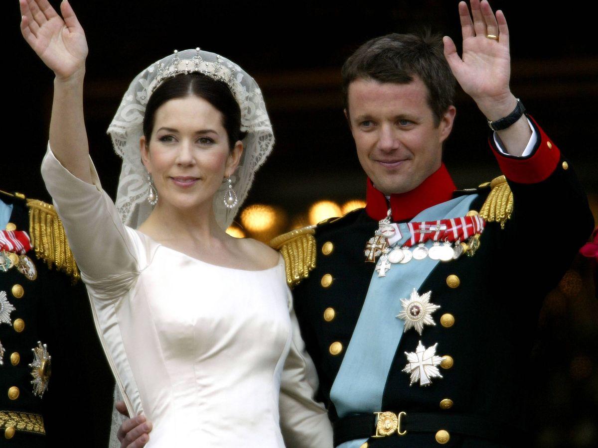 Foto: Federico y Mary de Dinamarca, el día de su boda. (Getty)