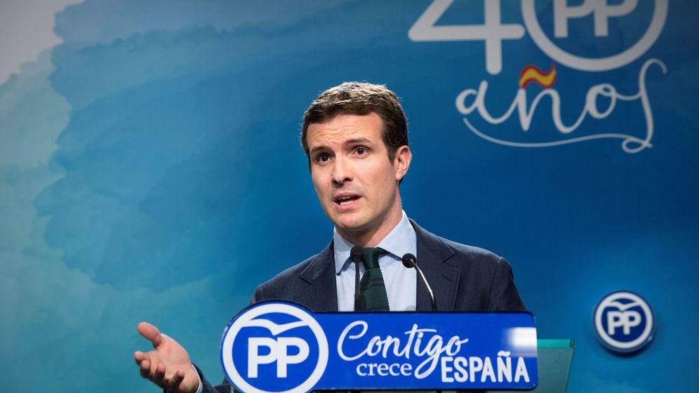 Foto: El líder del PP, Pablo Casado. Foto: EFE.