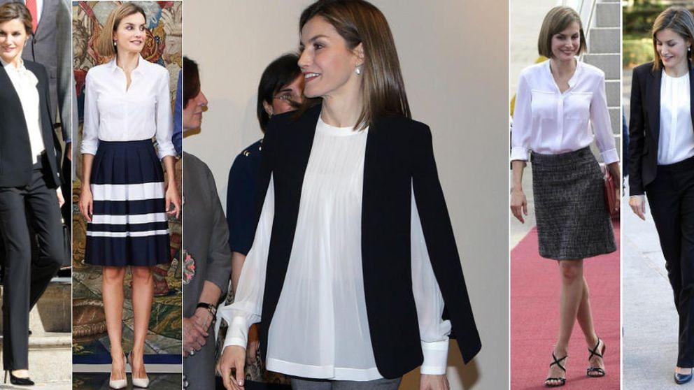 Letizia y su misteriosa obsesión con las camisas : tiene más de 15 idénticas