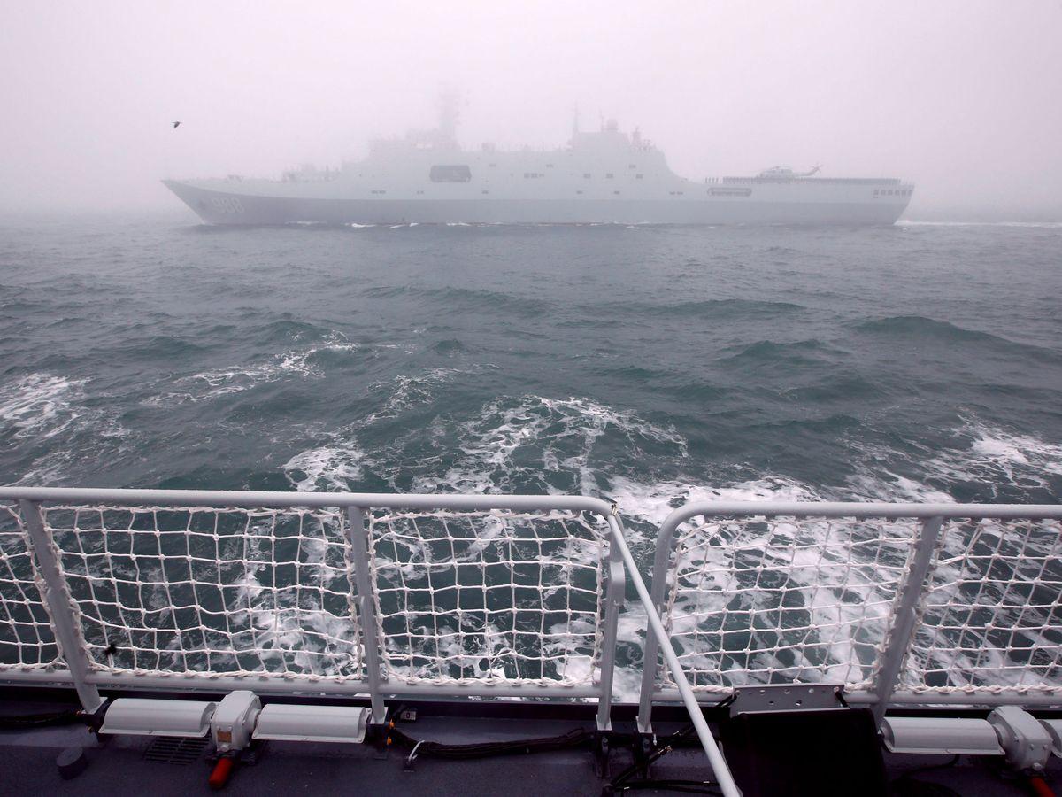 Foto: Armada china cerca del puerto de  Qingdao. (Reuters)