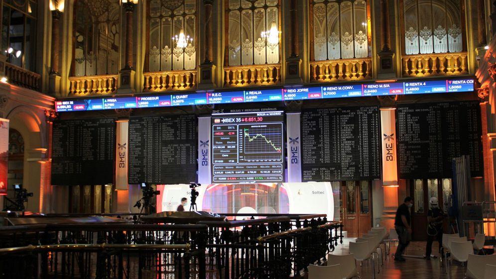 Foto: Interior del Palacio de la Bolsa de Madrid. (EFE)