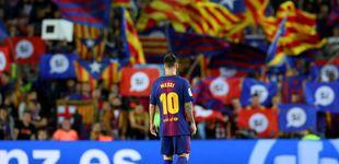 Post de El falso independentismo culé y la mano (¿de Roures?) que retrasa la foto de Messi