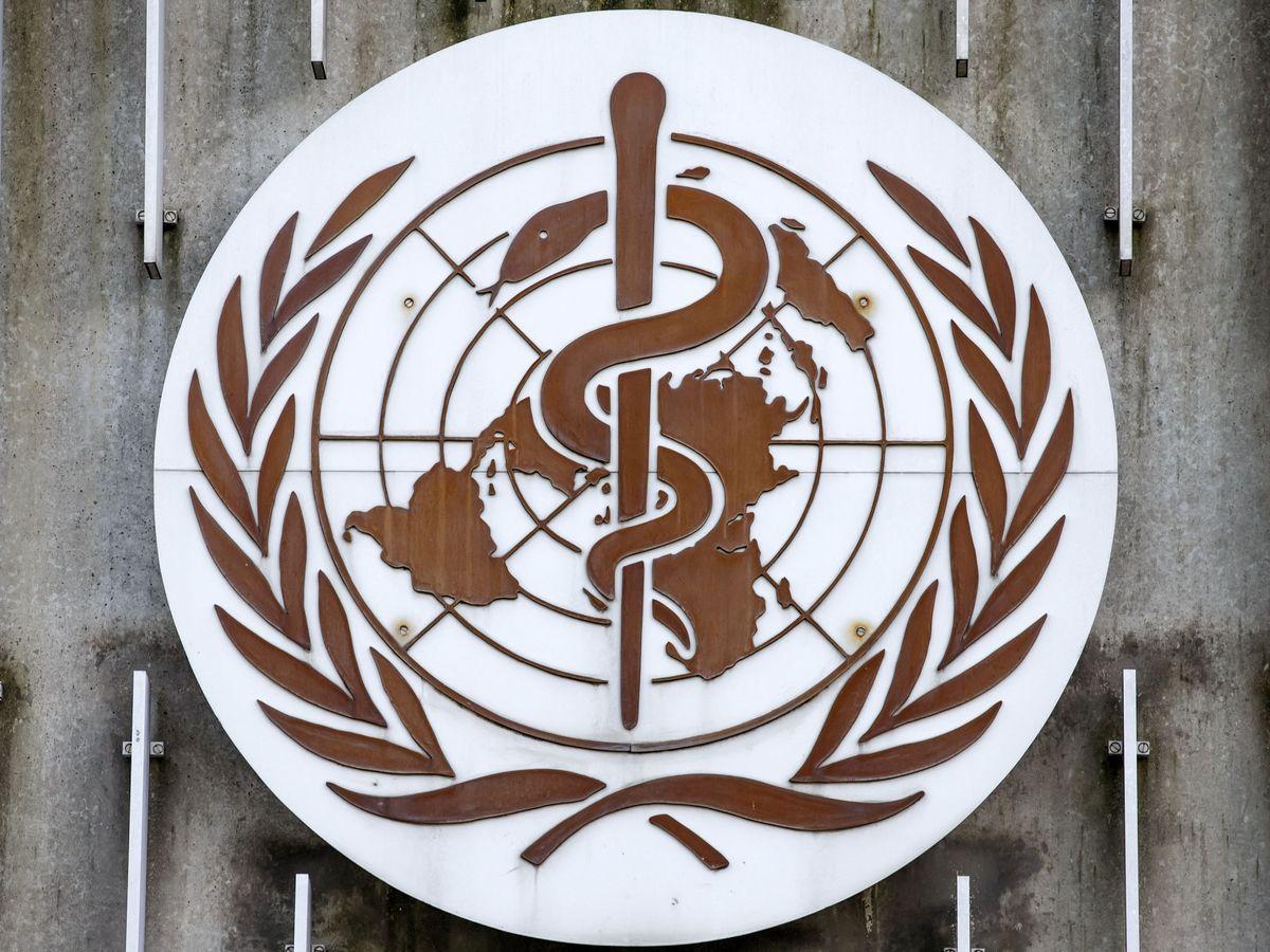 Foto: Logo de la sede de la Organización Mundial de la Salud en Ginebra. (EFE)