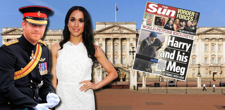 El diario 'The Sun' publica la primera imagen del príncipe Harry y Meghan Markle juntos