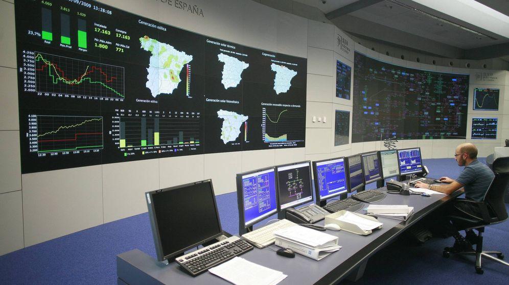 Foto: Centro de control de Red Eléctrica de España al norte de Madrid.