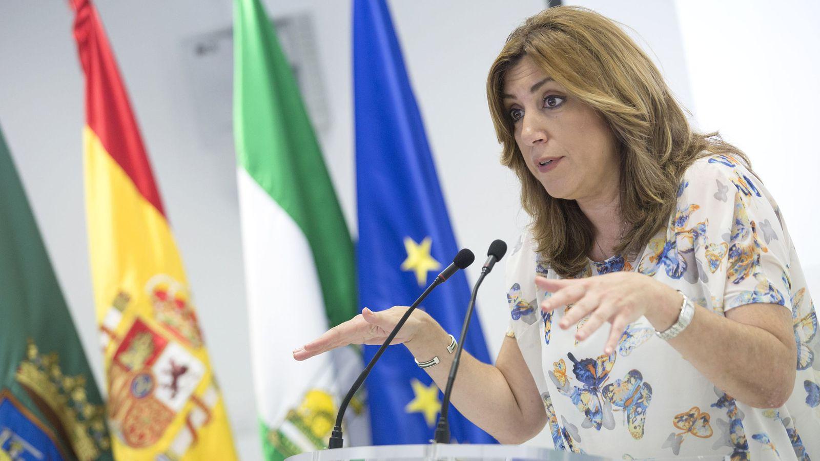 Foto: La presidenta de la Junta, Susana Díaz, en Vélez-Málaga este 15 de junio. (EFE)