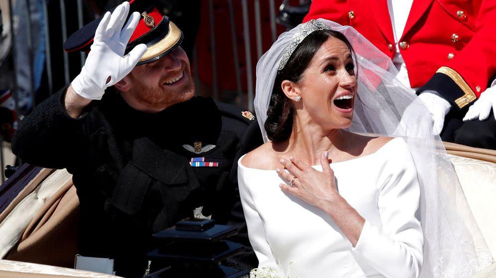 Foto: Meghan y Harry el día de su boda. (Reuters)