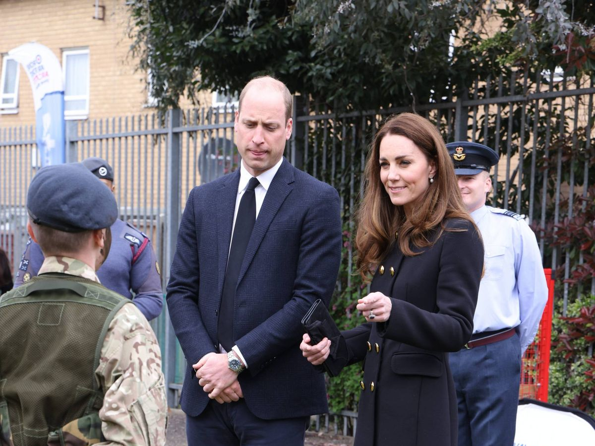 Foto: Los duques de Cambridge, este miércoles. (Cordon Press)
