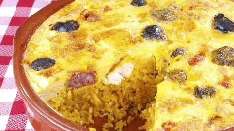 ¡Un arroz con tortilla al horno! Así es el que llaman con costra
