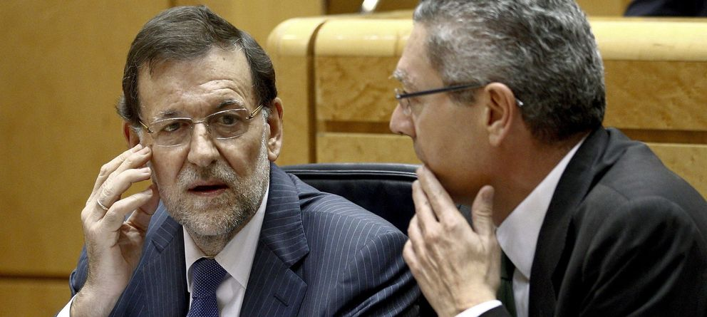 Foto: Mariano Rajoy y el ministro de Justicia, Alberto Ruiz-Gallardón (EFE)