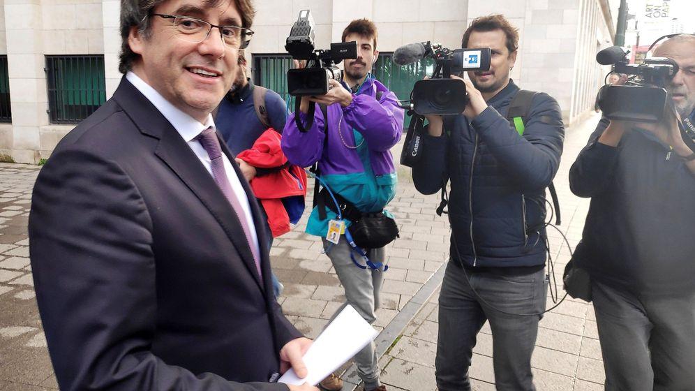 Foto: Puigdemont tras quedar en libertad. (EFE)