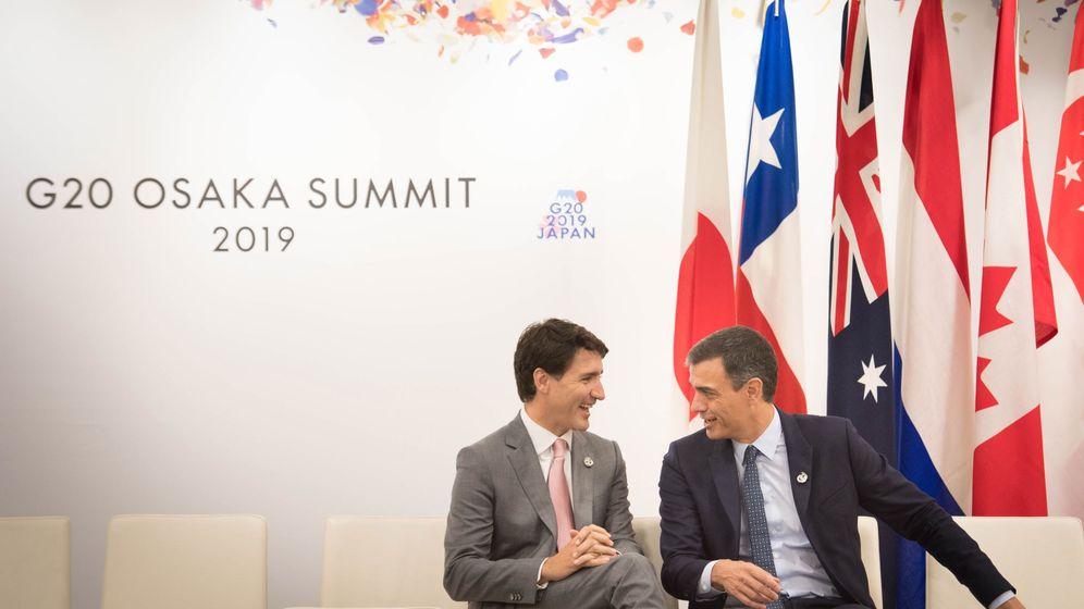 Foto: Trudeau y Sánchez. (Reuters)