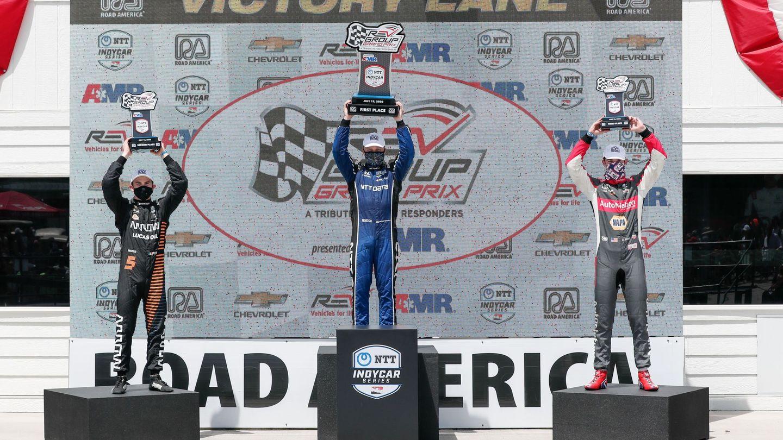Palou ya se subió al podio en su tercera cita del IndyCar, en Road America.