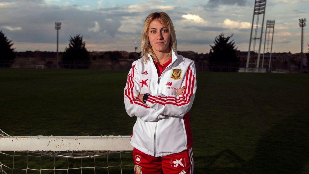 Foto: Ángela Sosa el pasado mes de abril en la Ciudad del Fútbol de Las Rozas. (EFE)