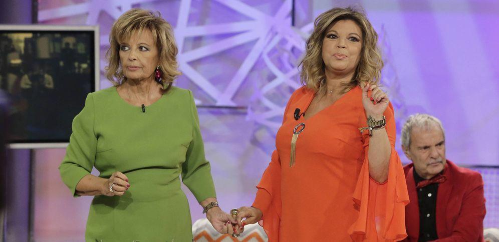 Foto: María Teresa Campos y Terelu en los platós de Telecinco (Gtres)