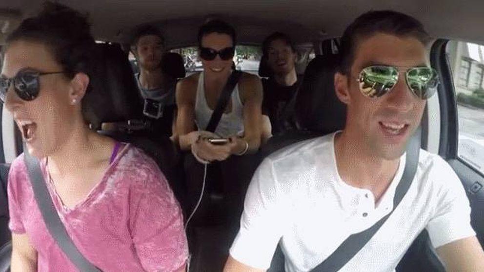 Carpool Karaoke: así se divierte el equipo de natación de EEUU antes de Río