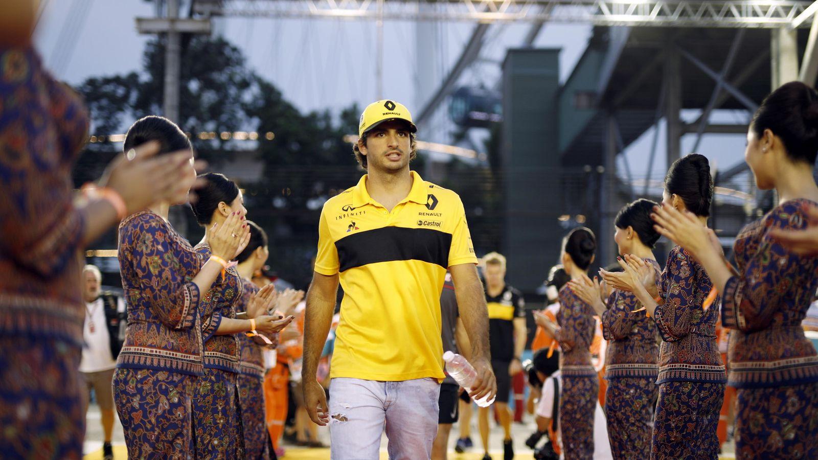Foto: Sainz realizó una carrera prácticamente perfecta en Singapur. (EFE)