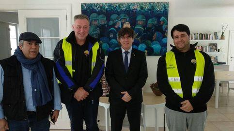 Taxistas de Barcelona visitan a Puigdemont en Waterloo
