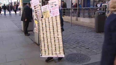 Multas a los loteros que pongan mesas en la Puerta del Sol de Madrid