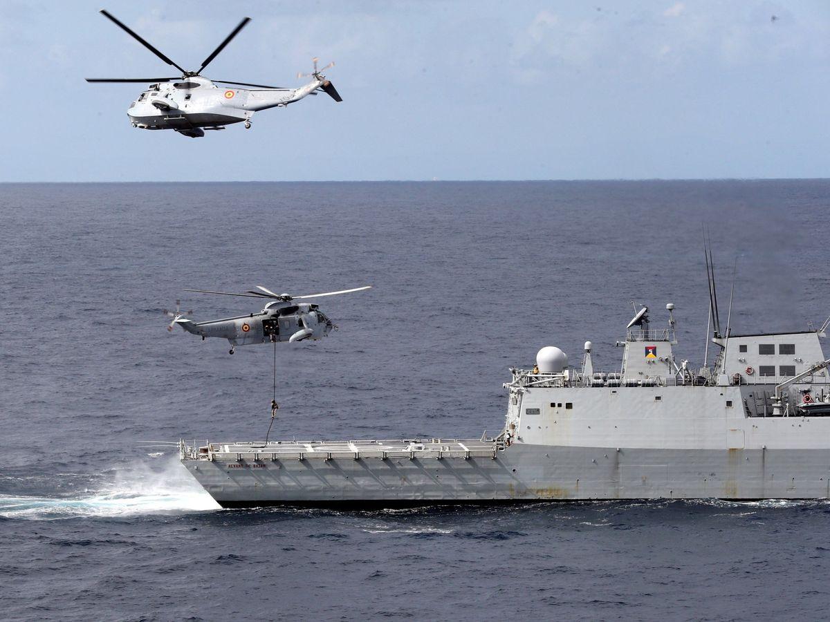 Foto: Maniobras gruflex-18 de la armada española