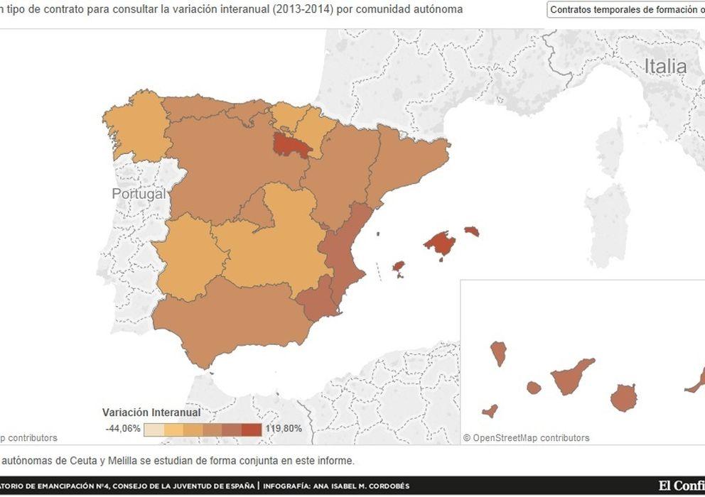 Trabajo: El mapa de la precariedad juvenil en España