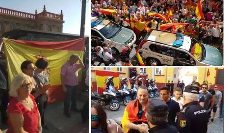 """""""A por ellos, oé"""": así despiden por toda España a la Policía enviada a Cataluña"""