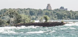 Post de El barco 'fantasma' que ha cobrado vida tras un siglo varado en las cataratas del Niágara