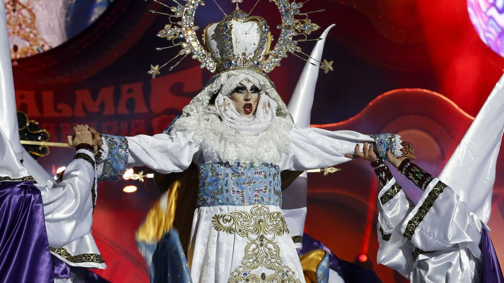 Foto: Número ganador de la gala Drag del Carnaval de Las Palmas. (EFE)