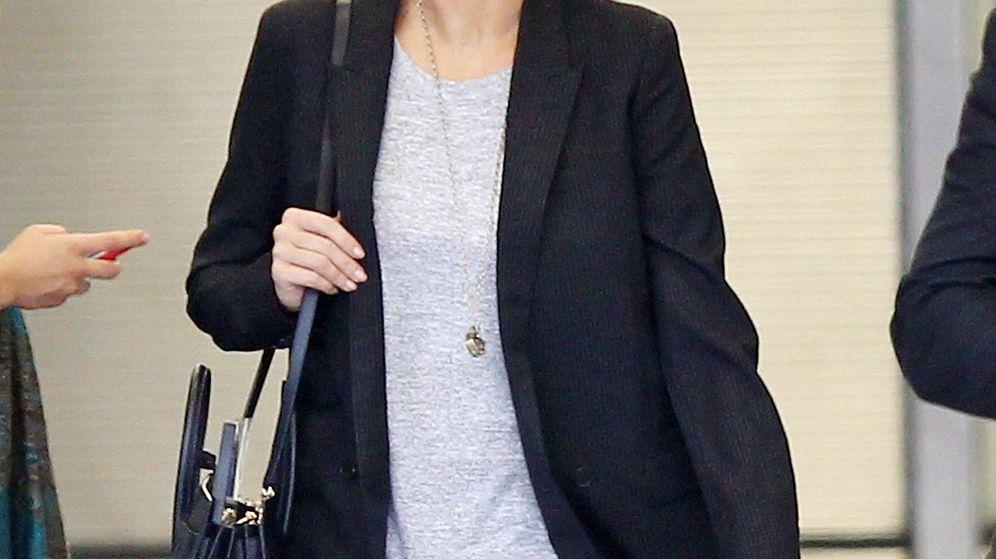 Foto: Corinna Larsen, en el aeropuerto de Miami. (CP)