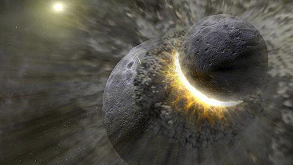 El choque de otro planeta con la Tierra fue el origen de la Luna