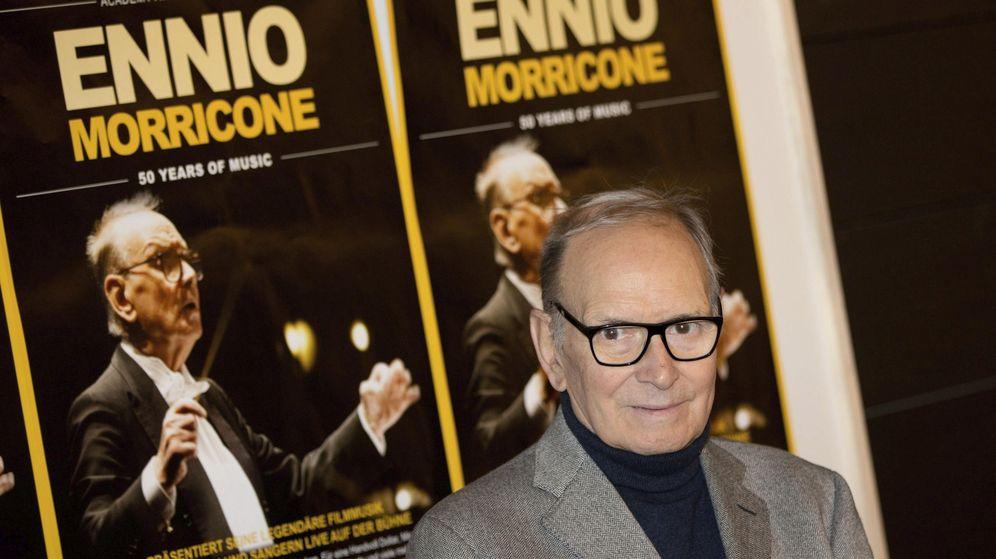 Foto: Ennio Morricone posa en 2013 con motivo de su gira '50 años de música'