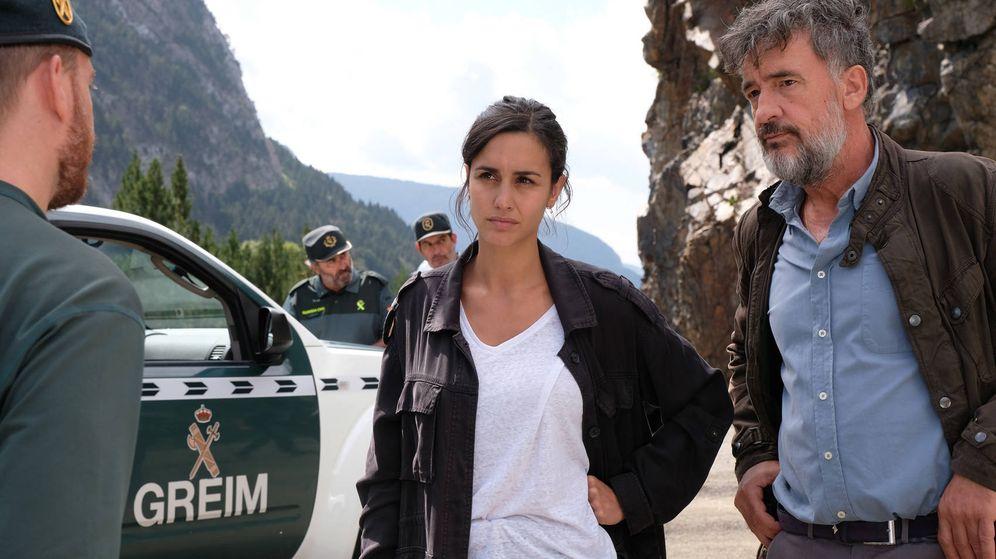 Foto: Dos de los actores principales de 'La caza. Monteperdido'. (RTVE)