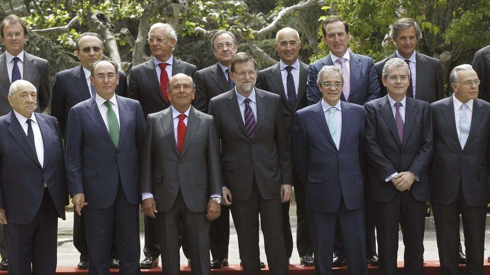 Foto: Rajoy, en marzo, durante un almuerzo con grandes empresarios españoles.