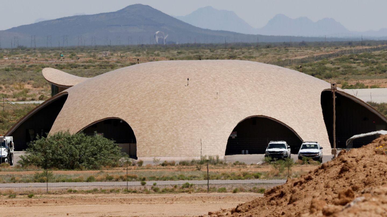 El mal llamado Spaceport America, la terminal en el desierto de Virgin Galactic.