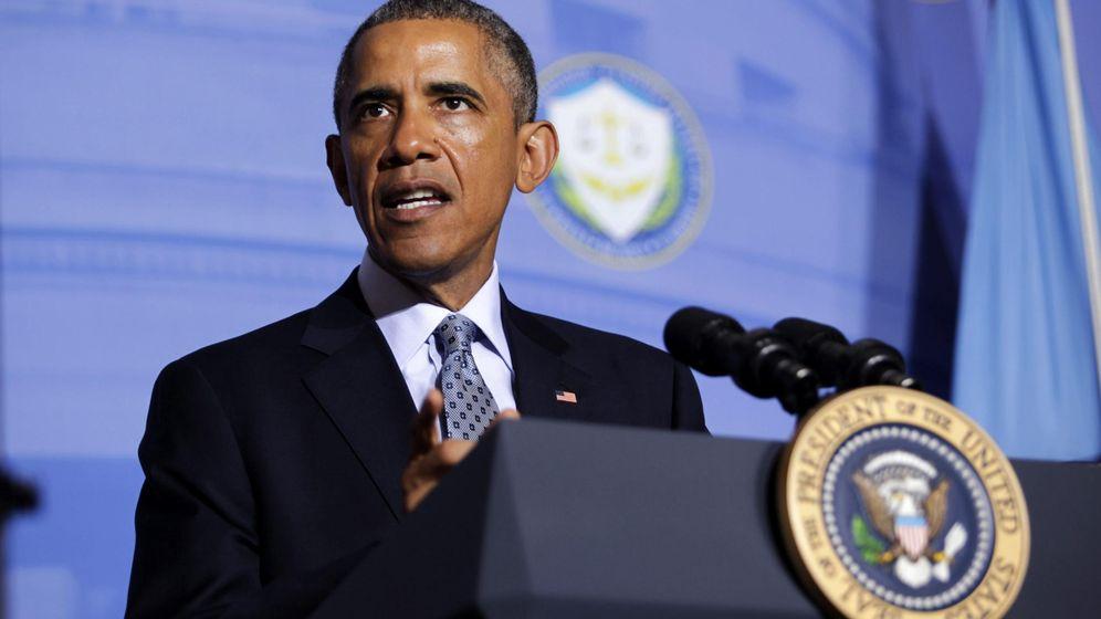 Foto: Obama durante una rueda de prensa. (EFE/Aude Guerrucci)