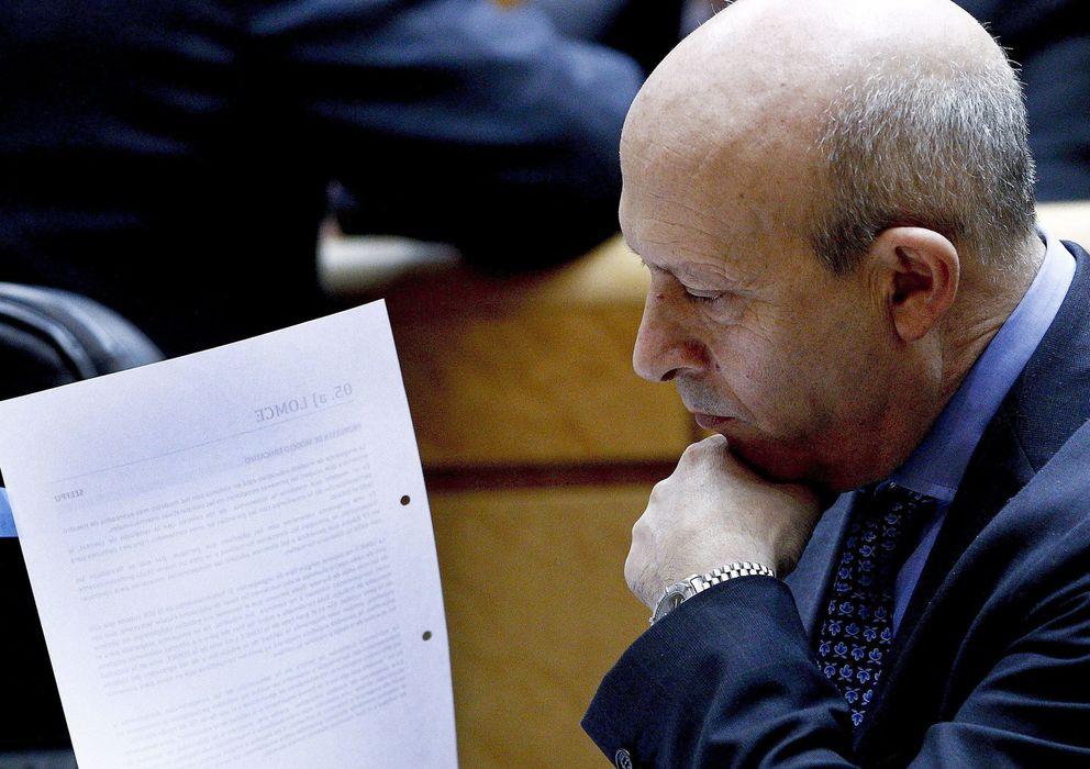 Foto: El ministro de Educación, José Ignacio Wert. (EFE)