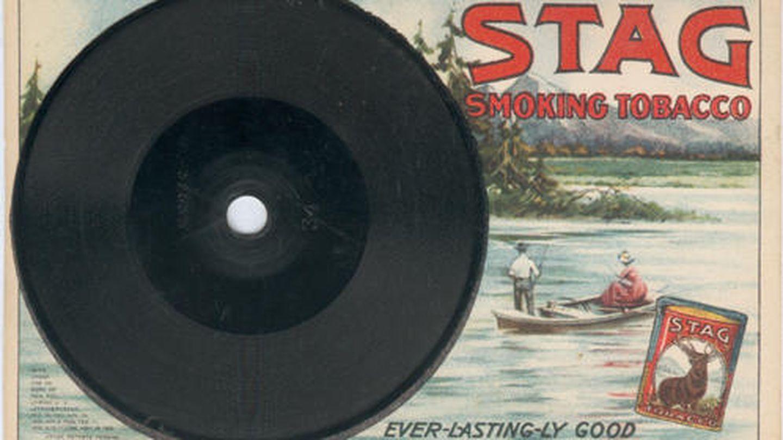 Los discos también fueron publicitarios, como este de una marca de tabaco.