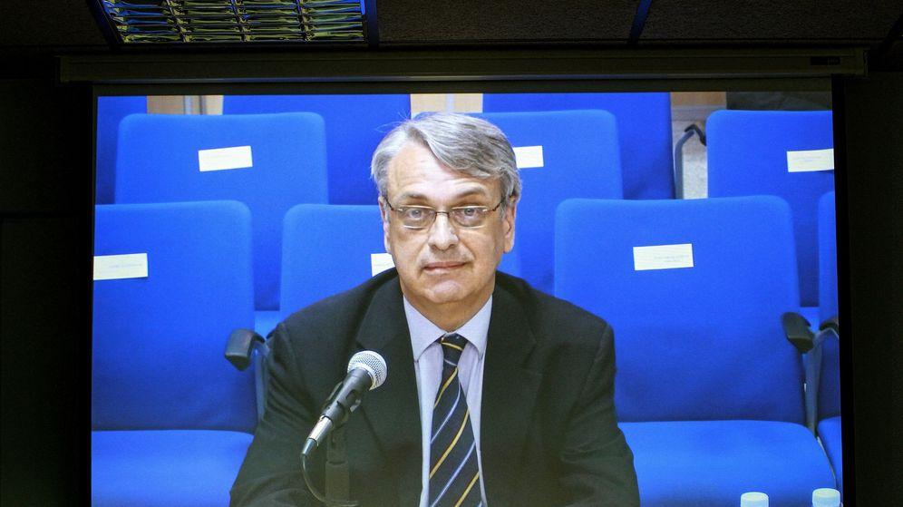 Foto: Imagen de la declaración del exsecretario del Instituto Nóos, Miguel Tejeiro. (EFE)