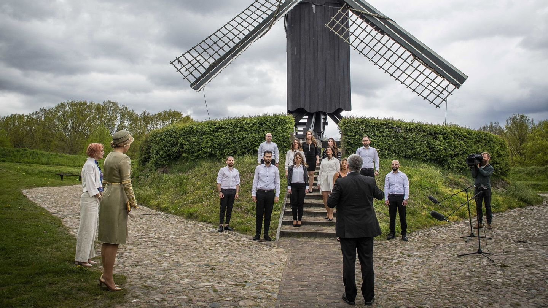 La reina Máxima, este lunes en Groningen. (EFE)