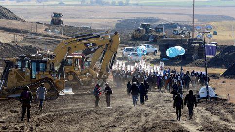 Los últimos instantes del campamento de protesta de Standing Rock
