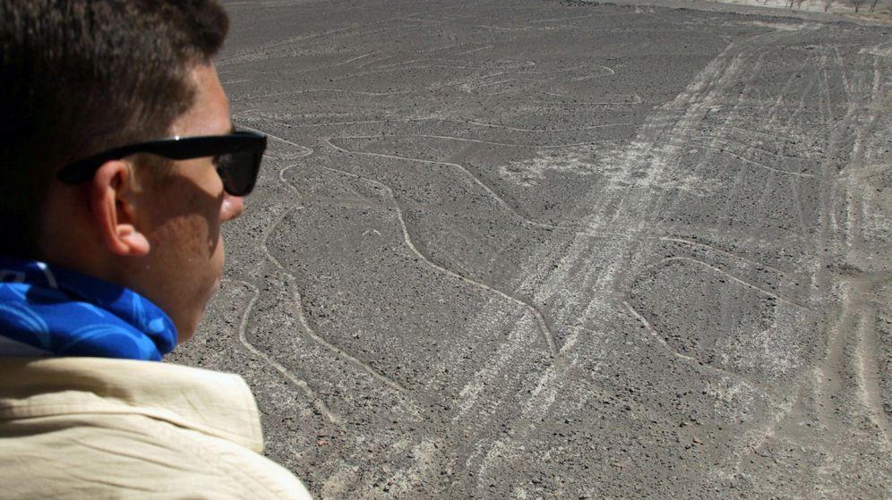 Foto: Uno de los geoglifos de Nazca visto desde el mirador situado  junto a la Carretera Panamericana. (Efe)